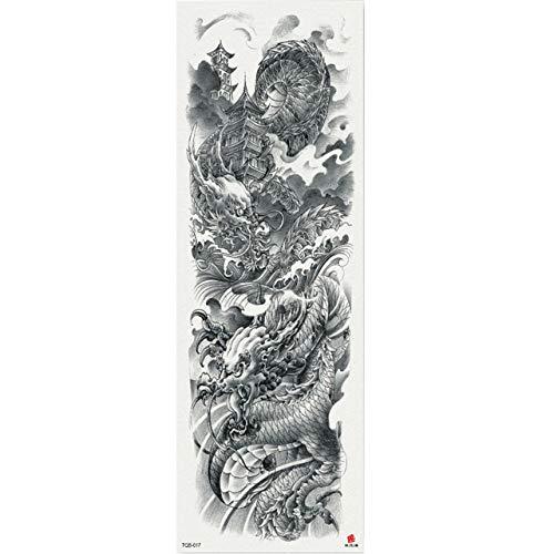 7pcs Buddismo pezzo del tatuaggio autoadesivo del tatuaggio autoadesivo del tatuaggio Luna Pezzo