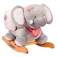 The Gift Experience Personalised Nattou Elephant Rocker
