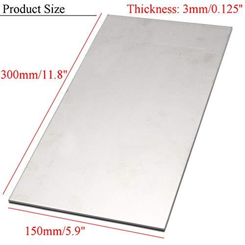 Xueliee Titanlegierungsplatte 6AL4V Titanplatte 300x150x3mm