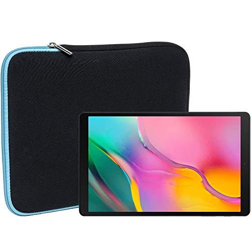 Slabo Tablet Tasche Schutzhülle für Samsung Galaxy Tab A T510 | T515 10,1 Zoll (2019) Hülle Etui Case Phablet aus Neopren - TÜRKIS/SCHWARZ