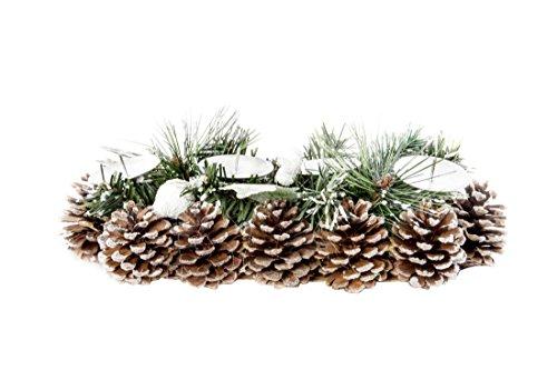 Adventskranz Weihnachtskranz Natur 4er inkl. Kerzenteller länglich