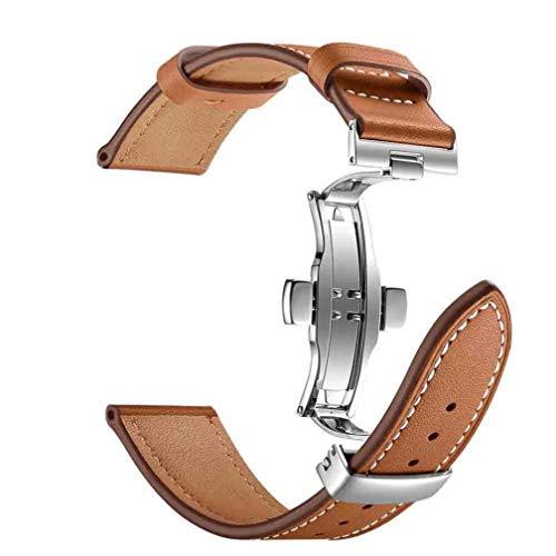 Für Apple Watch Armband 42mm,Colorful Ersatzband Uhrenarmband Lederarmband mit Edelstahl Butterfly Faltschliesse für iWatch Serie 2 Serie 1 42mm (Braun)