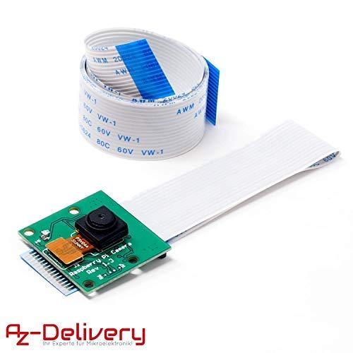 AZDelivery ⭐⭐⭐⭐⭐ Kamera mit 15cm Flexkabel und 100cm Flexkabel für Raspberry Pi Gratis Ebook! (Raspberry Pi Cam Pi)