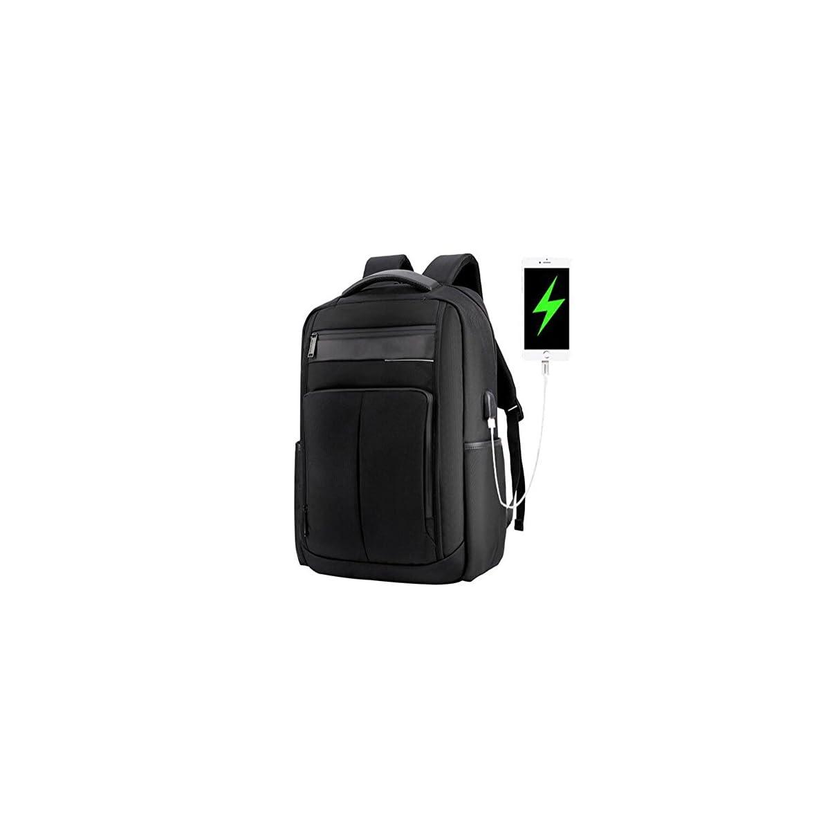 41QZl3wSDhL. SS1200  - beibao shop Backpack - USB Moda Computadora Mochila 18 Pulgadas Computadora Compartimiento liviano Impermeable Antirrobo Hombre Mujer Ocio Negocios Computadora Mochila