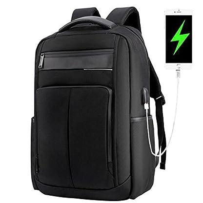 41QZl3wSDhL. SS416  - beibao shop Backpack - USB Moda Computadora Mochila 18 Pulgadas Computadora Compartimiento liviano Impermeable Antirrobo Hombre Mujer Ocio Negocios Computadora Mochila