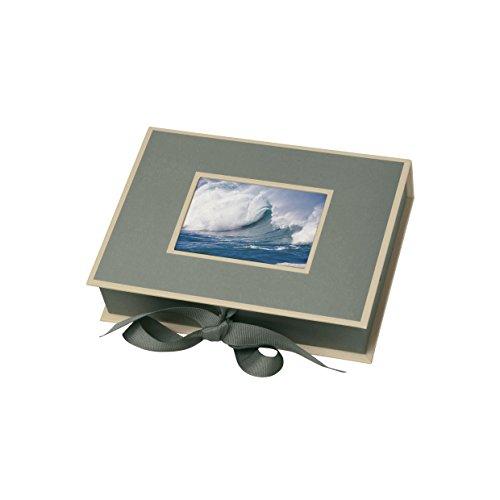 Semikolon (352519) Kleine Fotobox mit Einschubfenster grey (grau) | Aufbewahrungsbox für Bilder | Geschenk-Box für Schmuck | 20,7x15,3x4,7 cm
