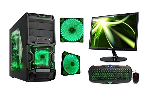 Rgdigital chronos - pc desktop completo intel quad core case alantik chronos gaming ram 8gb ram hd 1tb hdmi dvi vga dvd-rw alimentatore 500w wifi incluso + monitor led 22