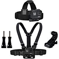 Sametop Banda Kit de Arnés Chest Mount Harness Ajustable Arnés del Pecho + Strap Mount de Correa Ajustable de Cabeza para Gopro Hero 5, 4, Session, 3+, 3, 2, 1 Cámaras