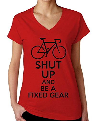shut-up-and-be-a-fixed-gear-womens-v-neck-t-shirt-xx-large