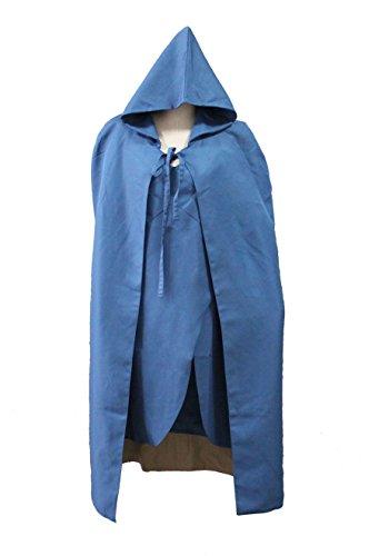 Stoff Kostüm Daenerys - Game of Thrones blaues Kleid und Umhang von Daenerys Targaryen aus der 3. Staffel, Größe: S