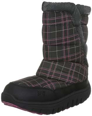 Karrimor Women's Snow Quilt Fur L Weatherite Check Black/Cochineal Snow Boot K288Cbc145 4 UK