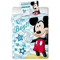 Disney Mickey Mouse bébé Parure de lit réversible 100x 135cm 100% coton (M05)