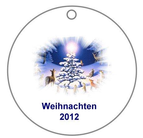Türschmuck, Fensterschmuck für Weihnachten mit Wunschtext; 2 Stück ; Fotokarton laminiert