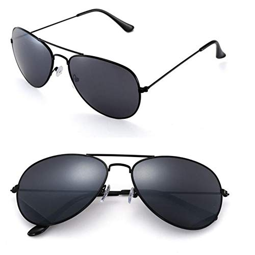 MOJINGYAN Sonnenbrillen Sonnenbrille Weiblichen Aviator Style Weiblichen Retro Fashion Schwarz Sonnenbrille Metallrahmen Bug Sonnenbrille Frauen