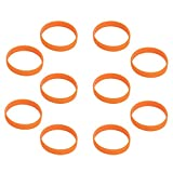 Hoerev leere Silicone Charity Bracelets Rubber Sport Armband, 10 Stück