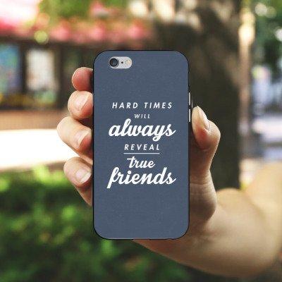 Apple iPhone X Silikon Hülle Case Schutzhülle Freunde Wahre Freunde Sprüche Silikon Case schwarz / weiß
