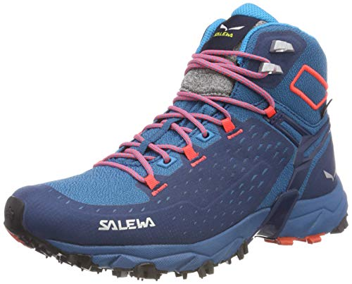 Salewa WS ALPENROSE ULTRA MID GTX, Damen Trekking- & Wanderstiefel, Blau (Blue Sapphire/fluo Coral 8363), 39 EU (6 UK)