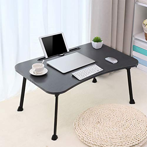 CNNDsek Tragbarer Multifunktions-Schreibtisch für Den Modernen Computertisch Lazy Foldable Simple Home Small Table,Black - Modern Geformte Beistelltisch