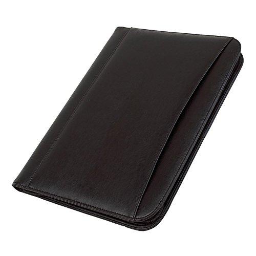Portfolio Din A4 mit Taschenrechner und Block vielen Fächern die Konferenzmappe ist in der Farbe schwarz
