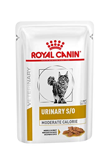 Royal Canin Veterinary Diet Cat Urinary S/O Moderate Calorie morceaux 12x85 g