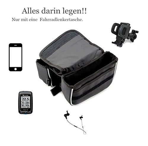 Der&Dies Fahrradlenkertasche Fahrradrahmentasche Frarradschnalletasche Gepäckträger-Doppelpacktasche mit abnehmbarer Kartentasche für Handy,Fahrradtasche für Radtour Wochendefahrradtour,Kurzfristige (Erwachsene Schuhe Basteln Für)