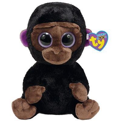 TY 7136062-Romeo-Gorilla Beanie Boos, 15 cm, braun