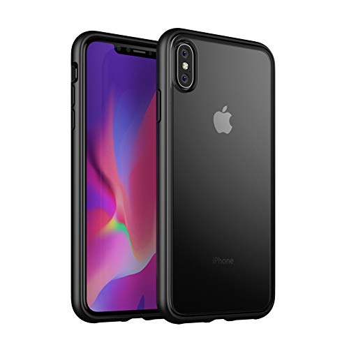 iPhone XR Hülle, Full Body Rugged Translucent PC Back Cover Rubber TPU Bumper Bumper Hard Back Plate Phone Cover [Enhanced Drop Protection] iPhone XR Case (2018)-schwarz, 6.1-Inch Black - Enhanced Protection Case