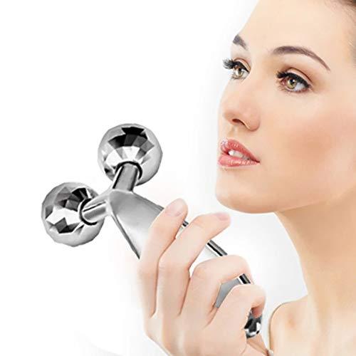 ZUEN Augen-Gesichtsmassagegerät, Rollen-Gesichtslifting-Massagegerät Straff und straff aussehendes Hautmassagegerät Körper-Gesichtsmassagegerät (2 Stück)
