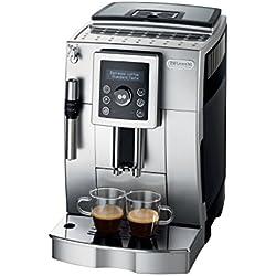 De'Longhi ECAM 23.420.SB Kaffeevollautomat | 1450 Watt | Digitaldisplay | Profi-Aufschäumdüse | Kegelmahlwerk mit 13 Stufen | Herausnehmbare Brühgruppe | 2-Tassen-Funktion | Digitaldisplay | silber/schwarz Kaffeevollautomat