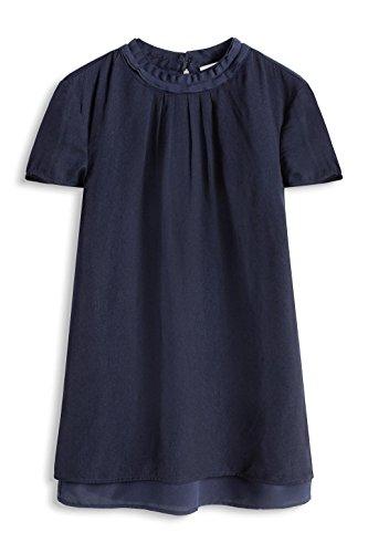 ESPRIT Collection 036eo1f023 - Blouse Top - Blouse - Femme Bleu - Blau (NAVY 400)
