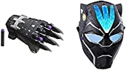 MARVEL Nerf Power Moves Avengers Black Panther Power Slash Claw Nerf Dart-Launching and Black Panther Vibraniu