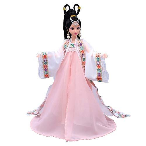 XuBa 12 bewegliche Gelenke 3D Augen chinesische Antik-Kostüm, Puppenspielzeug mit Zubehör Kleidung & Schmuck Figur Nake Puppen Spielzeug für Mädchen Wie abgebildet