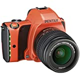 Pentax K-S1 SLR-Digitalkamera (20 Megapixel, 7,6 cm (3 Zoll) TFT Farb-LCD-Display, ultrakompaktes Gehäuse, Anti-Moiré-Funktion, Full-HD-Video, Wi-Fi, HDMI) Kit inkl. DAL 18-55 Objektiv sunset orange