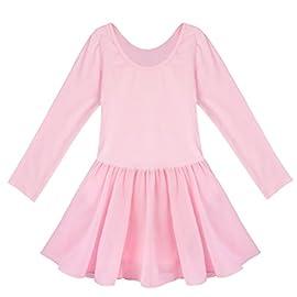 Sinoem Girls Ballet Dress Long sleeve//Short Sleeves Cotton Dancewear with Chiffon Skirt Kids Girls Gymnastics Leotard Ballet Dance Costumes Outfits
