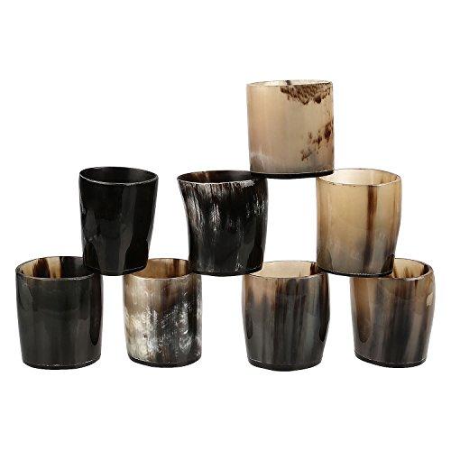 Schnapsglas aus Horn, Kunsthandwerk, Vintage-Stil  poliert