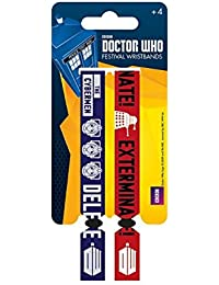 Doctor Who Wristbands daleks cybermen Nue offiziell 2 x Fabric Strap Festival