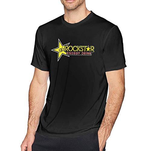 Rockstar Energy Drink Männer Komfort Kurzarm T-Shirt Schwarz M (Rockstar T-shirts Für Energy Männer)