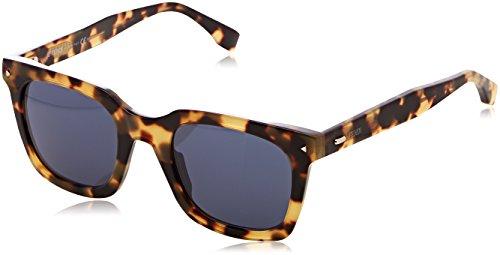 Fendi ff 0216/s, occhiali da sole donna, nero (yellow), 49