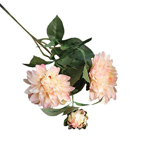 VWTTV Rayon gefälschte Blumen Dahlia Dahlia Blumen Hochzeit Bouquet künstliche Blumen schmücken die Braut Hydrangea