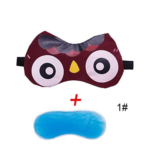NOTE 1PCS Cute Eyeshade Cold Cooling Gel Ice Eye Care Mask Padded Shade Cover Stress Relaxing Relief Sleeping Blindfold #280021
