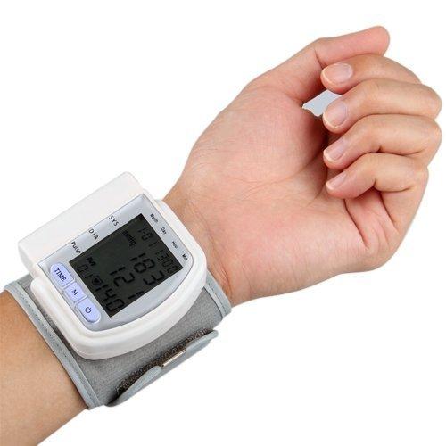 SODIAL (R) LCD-Digital-Handgelenk-Blutdruck-Monitor-Herz-Schlag-Messinstrument 60 Speicher (Lcd-handgelenk-blutdruck-monitor)