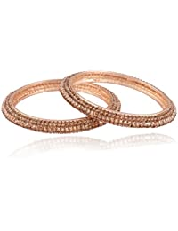 I Jewels Traditional Gold Plated Bangles For Women ADB121