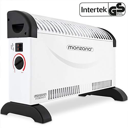 monzana Konvektor Elektroheizer 2000 W Frostwächter 3 Heizstufen elektrisch Thermostat Elektro Heizer Heizgerät Heizung