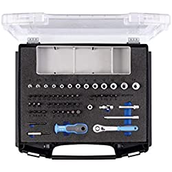 """GEDORE 1101-D 20 Steckschlüsselsatz 1/4"""" – 58-tlg. Steckschlüssel- und Bitsatz mit Umschaltknarre, 1/4""""-Bits & Steckschlüsseleinsätze inkl. weiterem Zubehör"""