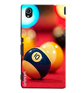 Omnam Snooker Balls Closeup Printed Designer Back Cover Case For Sony Xperia M4