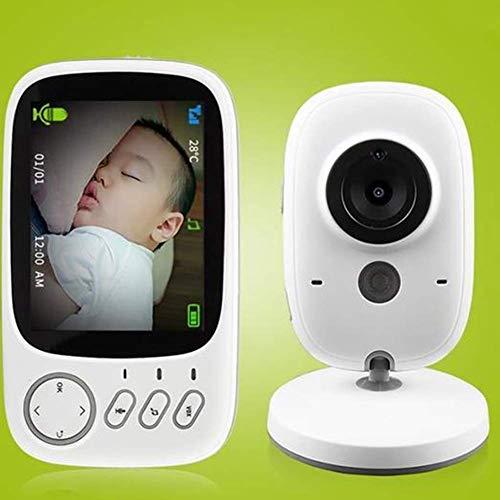 Babyphone - Monitor para bebés de 2,4 pulgadas con cámara de vídeo, pantalla LCD digital, doble función...