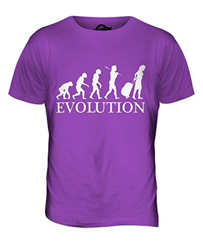 CandyMix Reise Reisende Evolution Des Menschen Herren T Shirt Violett