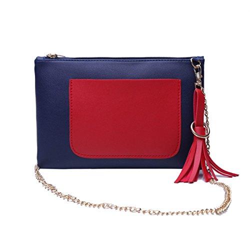 Handtaschen Kettenkoffer Messenger Bag Wilde Schulter Messenger Bag Blueandred