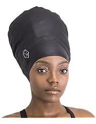 SOUL CAP XXL - Bonnet de Bain Très Grand / Bonnet de Douche | Conçu pour des Cheveux Longs, Dreadlocks, Tissages, Extensions de Cheveux, Tresses, Boucles et Afros | Hommes et Femmes | 100 % Silicone