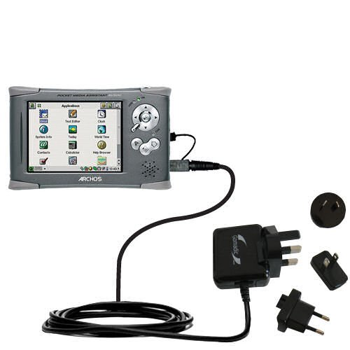 Pma-ladegerät (10W Gomadic Steckdosen-Ladegerät AC kompatibel mit Archos PMA 400 mit Energiesparmodus und TipExchange)